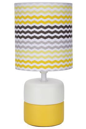 Round Stripe Lamp Shade with Ceramic Base