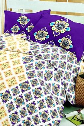BLISS Multi Colour Double Bedsheet Sets (Bedsheet Set (King) - 202234004