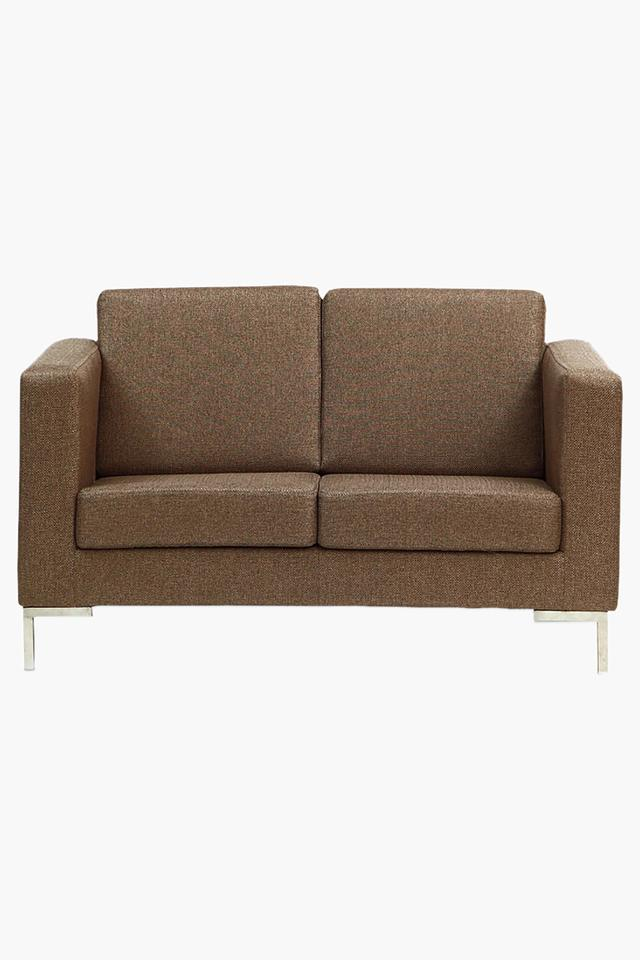 Light Brown Fabric Sofa (2 - Seater)