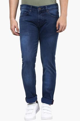 LOUIS PHILIPPE JEANS Mens Slim Fit Mild Wash Jeans (Matt Fit)