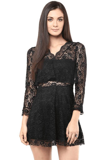 Womens Knitted Polyester Dress