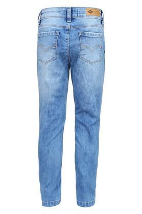 Girls 5 Pocket Distressed Jeans