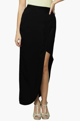 MISS CHASE Womens Solid Wrap Skirt - 202511516_9212