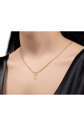 SPARKLESHis & Her Collection 18 Kt Pendant In Gold & Real Diamond HHPXP8765