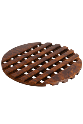 Wooden Checkered Trivet