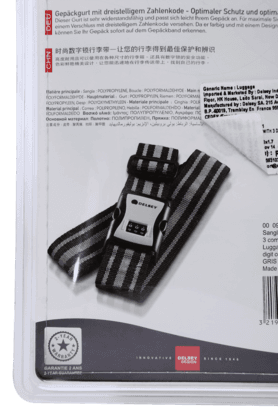 Luggage Strap With 3 Digit Combination Lock