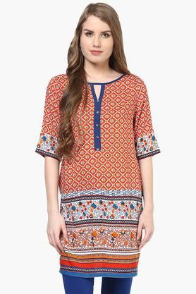 FUSION BEATS Women Printed Tunic - 201996710