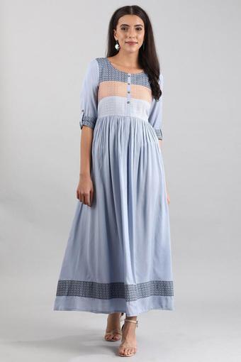 AURELIA -  BlueEthnic Dresses - Main