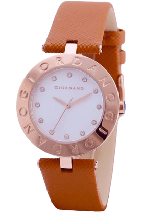 GIORDANO Womens Brown Silicon Strap Analog Watch- 2754-06