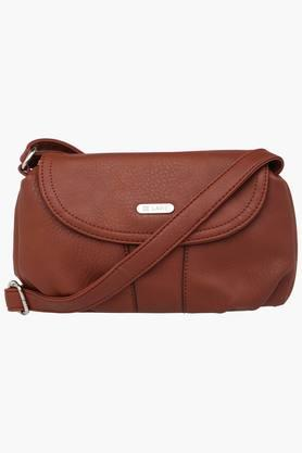 LAVIE Womens Leather Snap & Zipper Closure Sling Bag