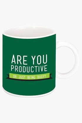 CRUDE AREA Are You Productive Printed Ceramic Coffee Mug