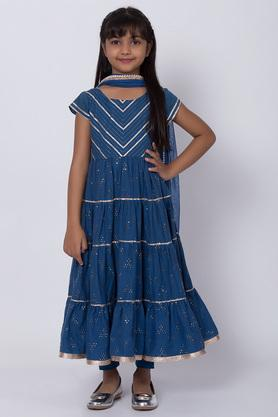BIBA GIRLS - Blue Salwar Kurta Set - Main
