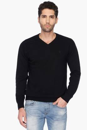 UNITED COLORS OF BENETTON Mens Regular Fit Solid Sweater