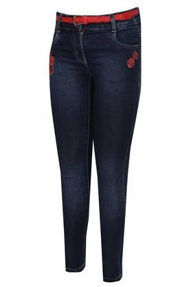 Girls 5 Pocket Embroidered Jeans