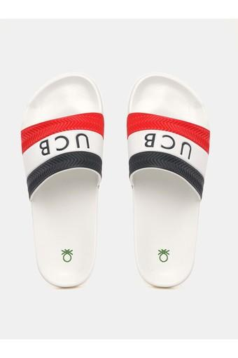 UNITED COLORS OF BENETTON -  Red Mix Flip Flops - Main