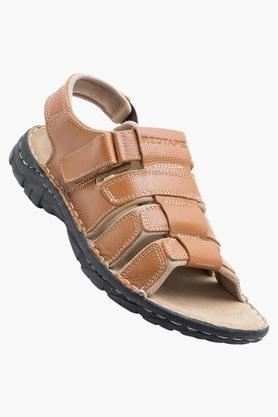 RED TAPEMens Leather Velcro Closure Sandals - 202628274