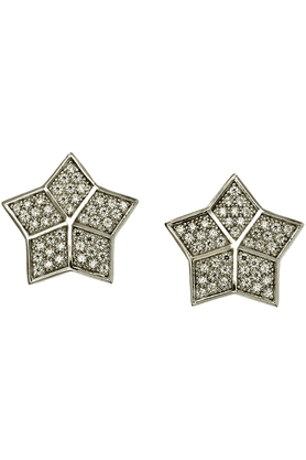 REAL EFFECT Sterling Silver Star Earrings