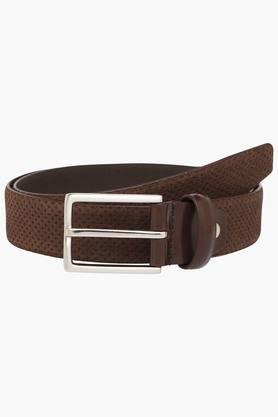 VAN HEUSEN Mens Suede Buckle Closure Casual Belt  ...