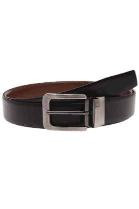 VAN HEUSEN Mens Black Leather Formal Belt - 9570366