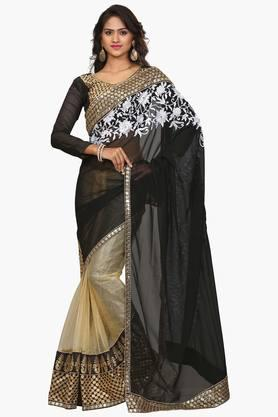 DEMARCA Women Net Designer Saree