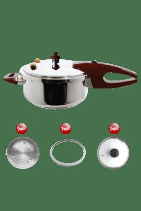 WONDERCHEFPressure Cooker By Chef Sanjeev Kapoor - 4Ltrs (Induction Base)