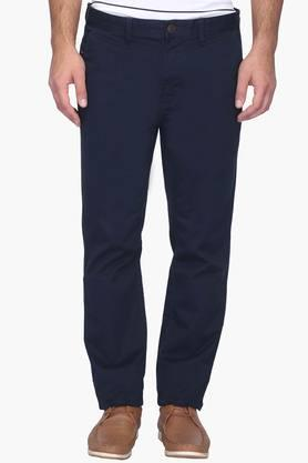 Mens Slim Fit 4 Pocket Solid Chinos (Brooklyn Fit)