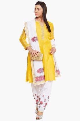 Womens Poly Cotton Straight Fit Suit Set - 202179735
