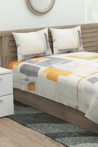Printed Double Bed Sheet with 2 Pillow Cover