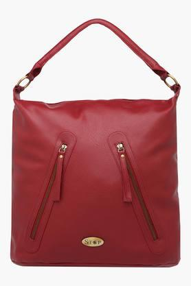 STOP Womens Zipper Closure Hobo Handbag - 201768922