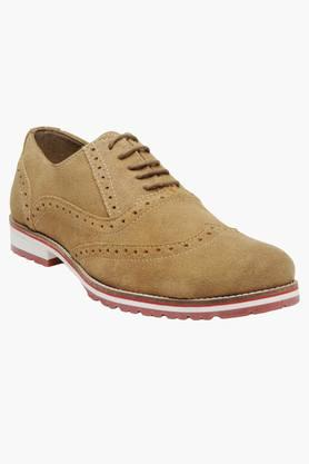 Mens Suede Lace Up Brogue Shoes