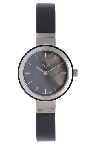Womens Grey Dial Metallic Analogue Watch - 45014KD03E