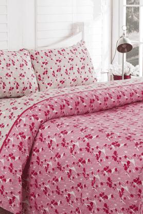 MASPARLeaf Print Double Bedsheet