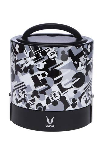 Round Mickey Mouse Printed Lunch Box with Carry Case