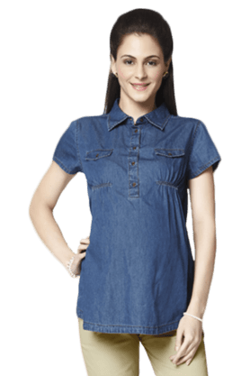 NINE MATERNITY Maternity Denim Shirt