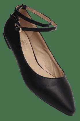 ELLIZA DONATEINWomens Buckle Closure Ballerina Shoe