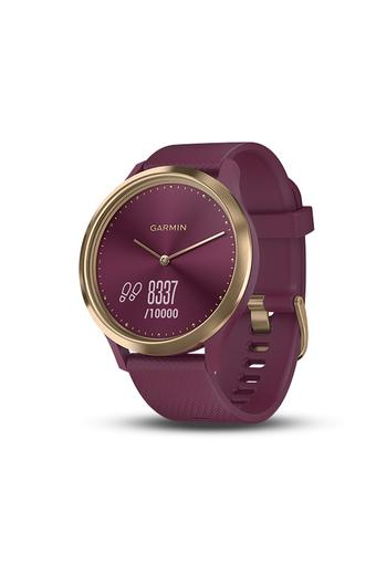 Unisex Vivomove HR Merlot Gold Silicone Hybrid Watch