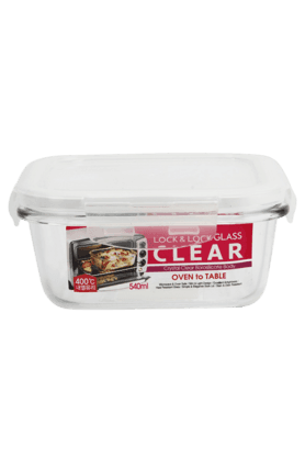 LOCK & LOCK Clear Square Bake And Store Container - 540ml