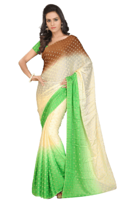 DEMARCA Women Jacquard Saree (Buy Any Demarca Product & Get A Pair Of Matching Earrings Free)