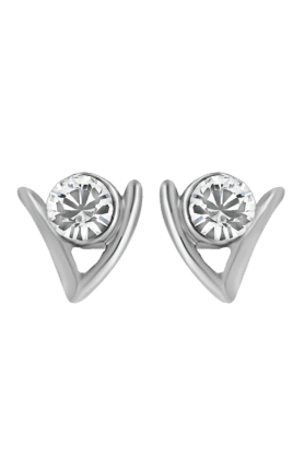 MAHIMahi Rhodium Plated Ageless Earrings With Crystals For Women ER1108724R