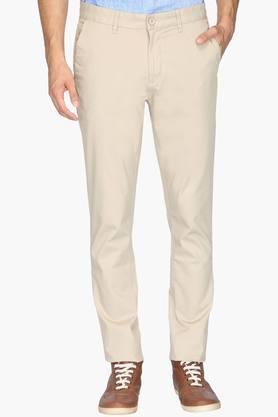 VAN HEUSEN SPORT Mens Tapered Fit 5 Pocket Solid Chinos  ...