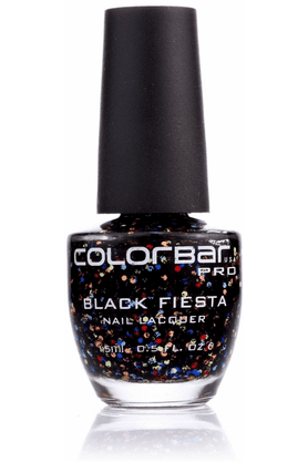 COLORBAR Black Fiesta Nail Lacquer (Shop Worth Rs. 1000 And Get Flat 10% Off)