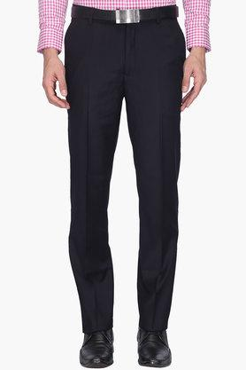 WILLS LIFESTYLE Mens 4 Pocket Regular Fit Solid Formal Trouser