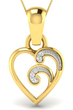 SPARKLESHis & Her Collection 92 Kt His & Her Diamond Pendants In 925 Sterling Silver And Real Diamond - 0.03 Cts HHP8545-92KT