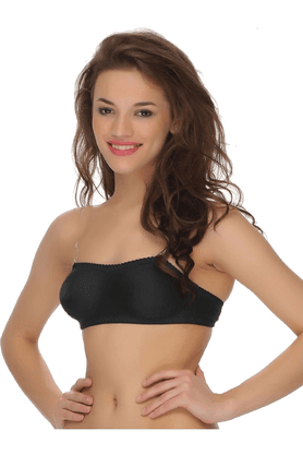 Cotton Rich Tube Bra With Detachable Transparent Straps