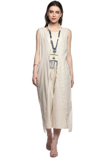 BACK TO EARTH -  Beige Palazzos & Jumpsuits - Main