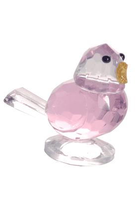 REAL EFFECTPink Bird Figurine
