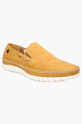 BUCKAROOMens Leather Slip On Loafers