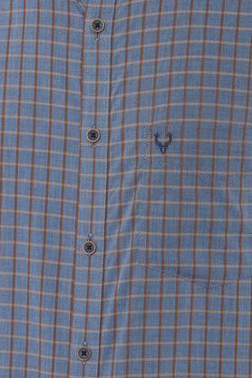 ALLEN SOLLY - Charcoal Casual Shirts - 4