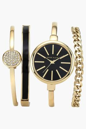 ANNE KLEIN Black Glossy Dial Womens Watch- AKB1470GBSTJ  ...