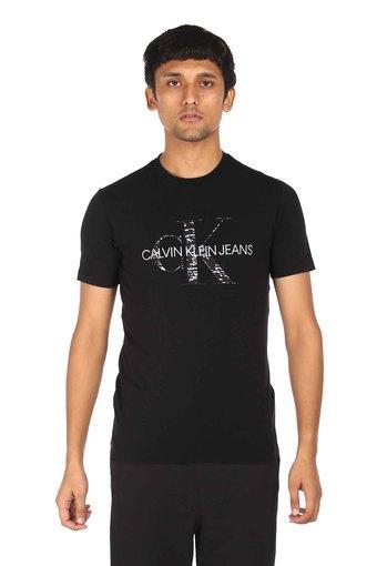 CALVIN KLEIN JEANS -  BlackT-Shirts & Polos - Main
